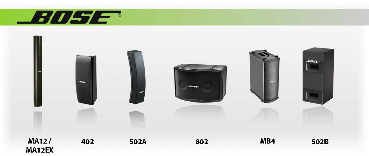Bose Panaray Speaker Product Family
