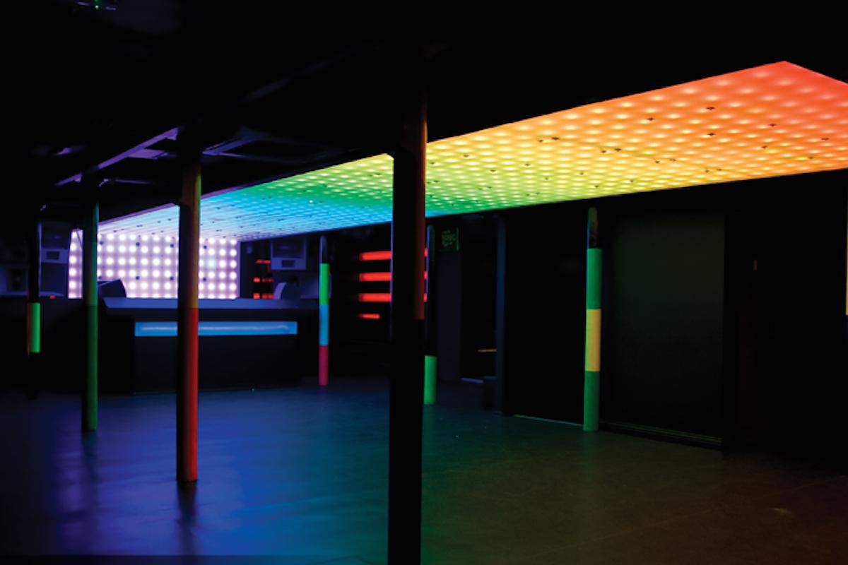 Akwil Interactive LED Ceiling Display System at Sankeys Spektrum Club Manchester