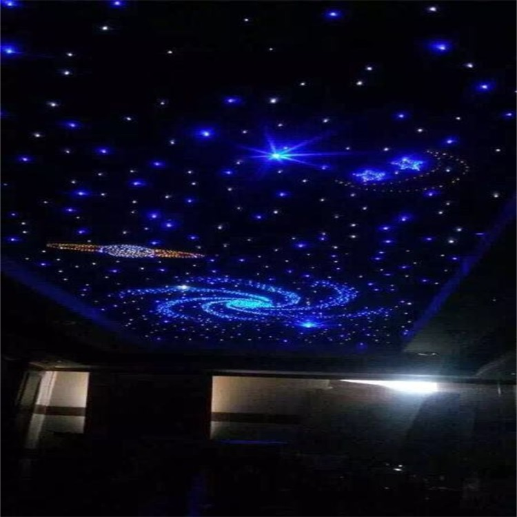 Fibre optic ceiling panels led colour controlled