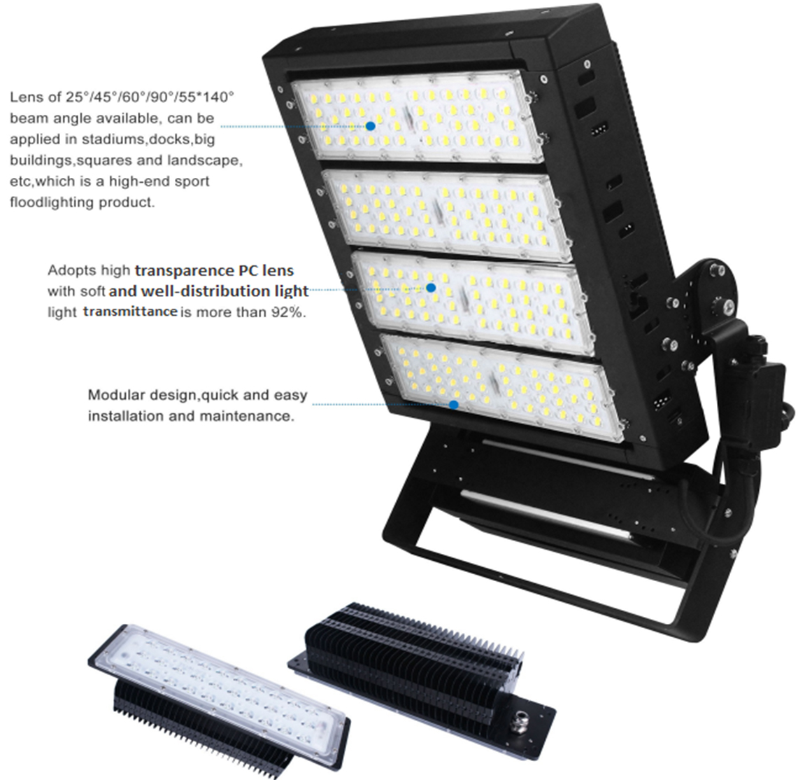 led stadium flood lighting 1000W