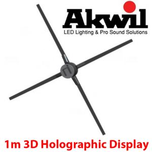 Akwil 100cm 3D Holographic Display Spinning Holofan Wireless 3D Display System