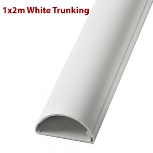 2m White Trunking Curved Capping Surface Mount Cable Cover