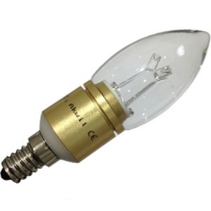 Akwil 5W LED Candle Bulb AKC-5W B15 & E14 Akwil Dimmable LED Light Bulb 240V 5W 400lm Sharp LED Bulb 330 Degree Clear or Frosted