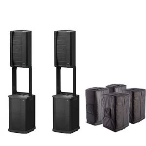 Complete Bose F1 Model 812 System with 2x Active Loudspeakers 2x Subwoofers 4x Travel Bags