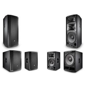Complete JBL PRX800 Series Powered Loudspeaker Nightclub Sound System 2x PRX835W 2x PRX818XLF 2x PRX812W