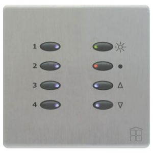 Mode SceneStyle2 Fascia SCE-02-BSS-44 (8 Buttons, Single Gang, MK Aspect Brushed Stainless)