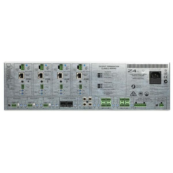 Cloud Z4MK4 - 4 Zone Venue Mixer 2 UnBal 4 Bal Music 2 local mic 4 remote facilities inputs 4 output zone