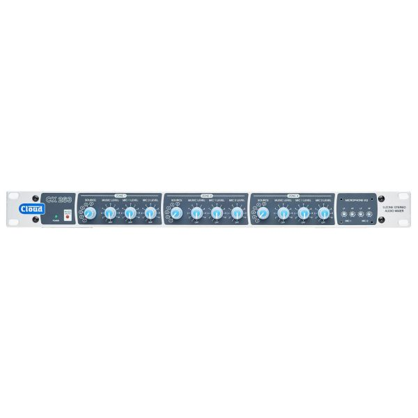 Cloud CX263 3 Zone Mixer 6 line level inputs and 2 mic inputs with remote wall plate options
