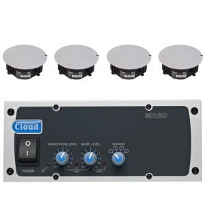 Cloud Speaker System MA60-SP 60W Mixer Amplifier with  4x CS-C5 Ceiling Mounted Speakers