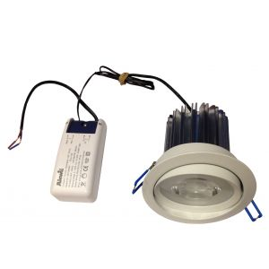 13W LED Dimmable Angle Downlight Fitting 1130 Lumen LED Downlight with Dimmable LED Driver Cool Neutral or Warm White Light