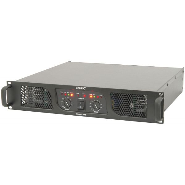 Citronic PLX2000 Power Amplifier 2x 700W rms at 4 Ohm with Clip Limiter