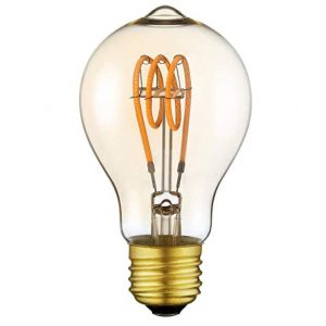 4W Edison Dimmable LED Bulb with 2200k Very Warm White Traditional Coil Filament