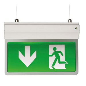 3-IN-1 LED EXIT SIGN SELF TEST MAINTAINED / NON-MAINTAINED 2.5W WHITE