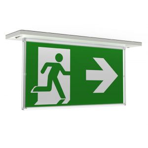LED LITHIUM RECESSED EXIT SIGN MAINTAINED NON-MAINTAINED 4.5W