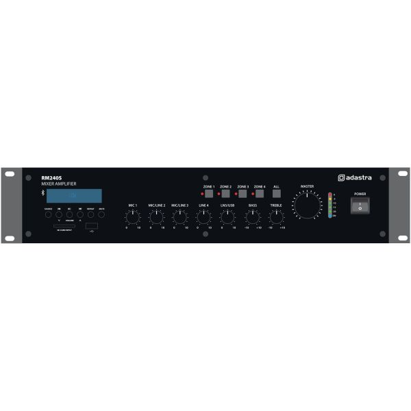 RM240S 240W 5-channel Mixer 100V Mixer Amplifier