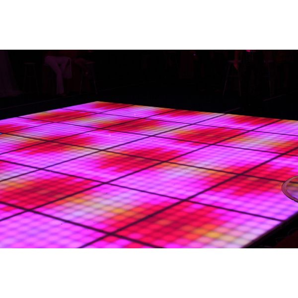 Akwil 1m x 1m 64 Square Pixel Matrix LED Dance Floor System includes Floor Panels Modules Controllers and Power Supplies