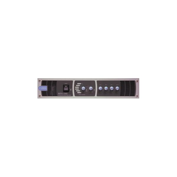 Cloud MPA240 - Mixer Amplifier 240W 6 Line Inputs 4 Mic Inputs Single Zone with remote Volume and Select Facility Port
