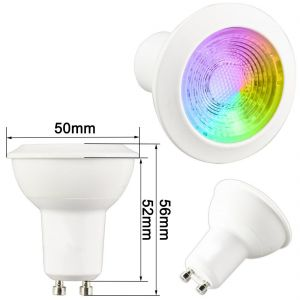 3W RGBW GU10 LED Downlight with Warm white 2700 Kelvin