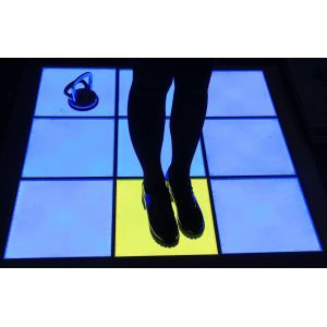 Single Pixel Interactive and DMX LED Dance Floor Modules 500mm x 500mm RGB Colour Controlled Floor Panels