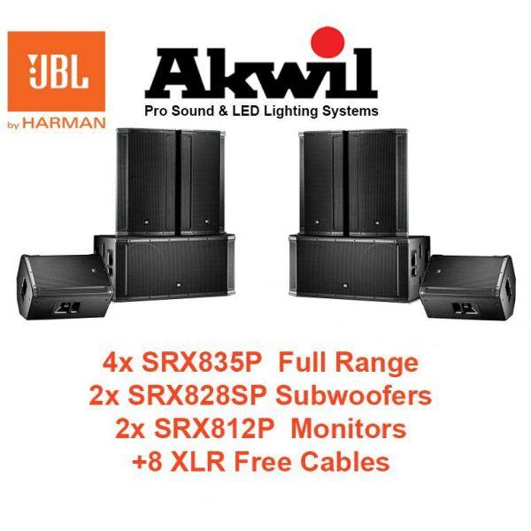 JBL SRX835P 15 Inch Three-Way Bass Reflex Self-Powered System
