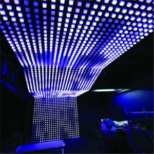 1m sq LED Ceiling Display Panel System 64 Square Pixels Per Sq m - LED CUBE CEILING PANEL 64