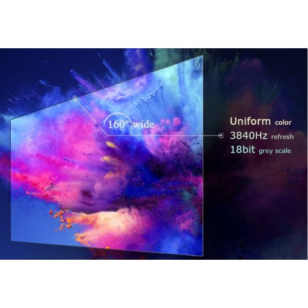 UHD 1.5mm Pitch Indoor LED Display Front Loading Panel System 600mm x 337.5mm Cabinets