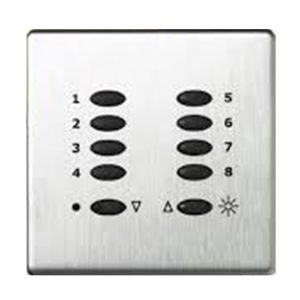 Mode Evolution Switch Plate Fascia EVO-S-POC-** (Single Gang, MK Aspect Polished Chrome)