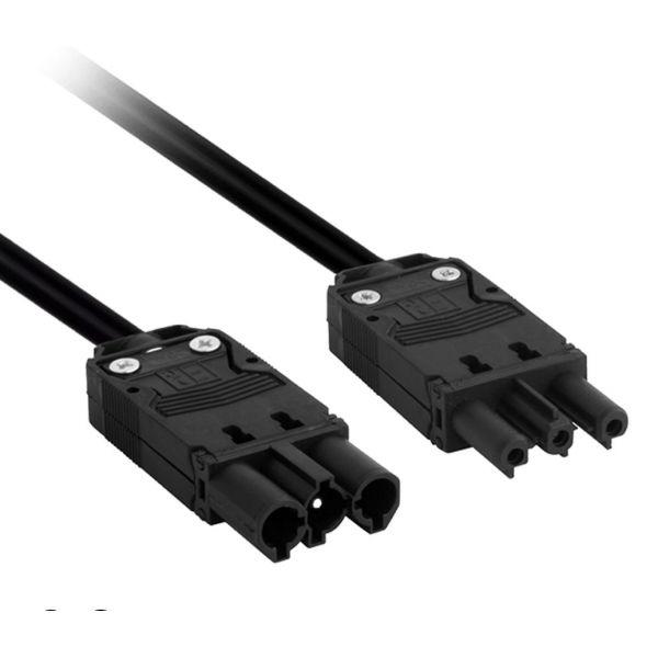 Mode GST Mains Cable GST-CAB-0.5M-1P-1S-W (0.5M, GST Plug to GST Socket, White, 1.5mm2  conductors)