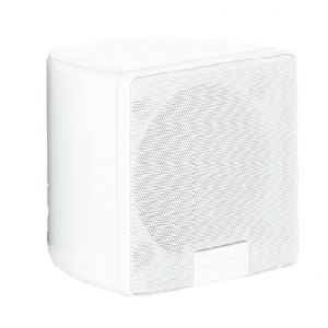 OHM BOOTIQUE SATELLITE WHITE 4.5 Inch Full Range Trapezoidal Loudspeaker in Piano White Finish