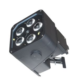 50W 5x10W RGBAW+UV LED Outdoor Battery Powered Stage Light