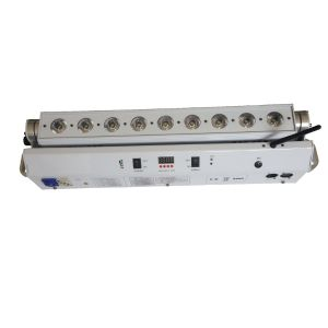 90W 9x10W 6in1 LED Outdoor Battery Powered Stage Bar Light IP65 96w RGBAW+UV LED Wireless DMX