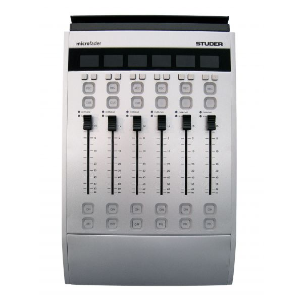 Studer Fader Controller for integrated digital audio broadcast and production mixing system