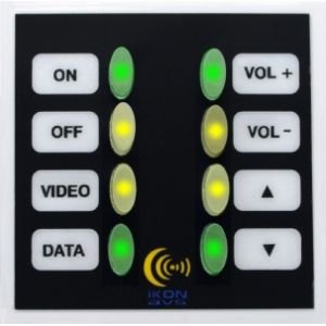 EURO 8 WALL PODULE - The Euro8 Podule is a compact 8 button control panel that fits any European standard 50mm snap in frame