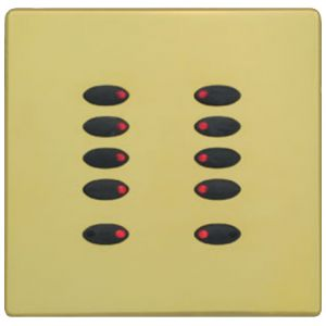 Mode Evolution Switch Plate Fascia EVO-S-PBR-** (Single Gang, MK Aspect Polished Brass)
