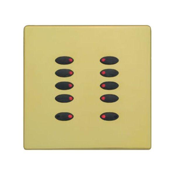 Mode Evolution Switch Plate Fascia EVO-S-PBR-** (Single Gang, MK Aspect Polished Brass)