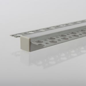 3m Recessed Aluminium LED Strip Tile Profile for Tiled or Plastered Flange recessed 8mm led strip Width