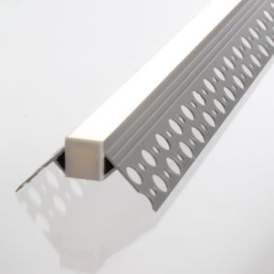 3m Aluminium LED Strip Corner Edge Tile Profile for Tiled or Plastered Flange recessed