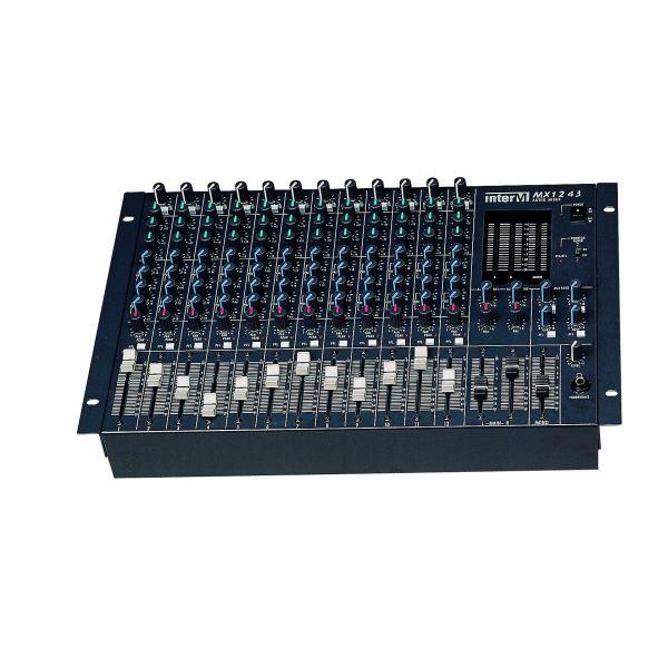 Inter-M MX-1243 12CH Input 3 Band EQ and 4 Output Mixer PFL AFL Phantom Power