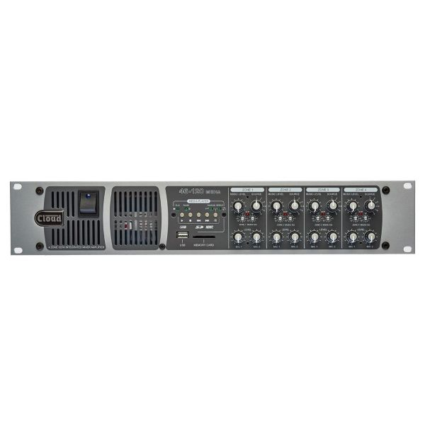 Cloud 46-120-Media 4 Zone 4x 120W Integrated Mixer Amplifier with Volume and Select Facility Ports