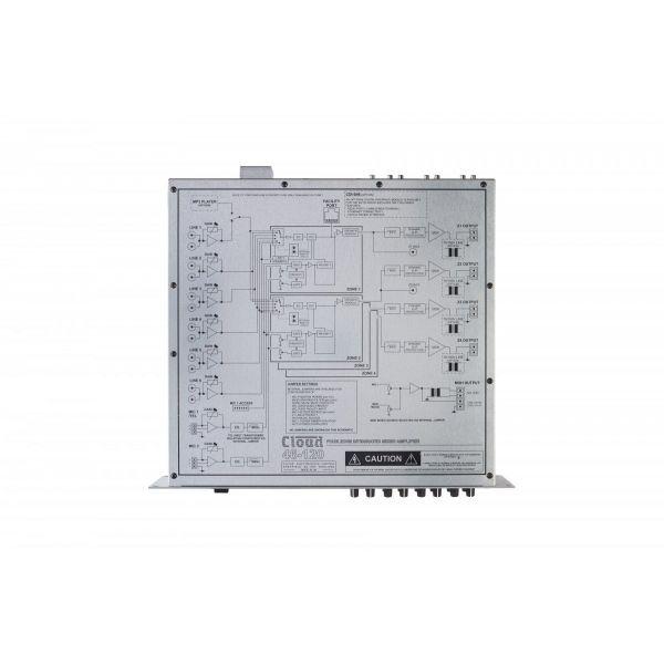 Cloud 46-120 - 4 Zone 4x 120W Integrated Mixer Amplifier 6 Input 2 Mic