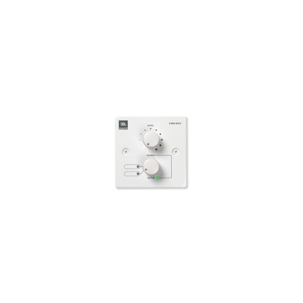JBL CSR-2SV White Volume and Selector Control Wall Plate Single Gang