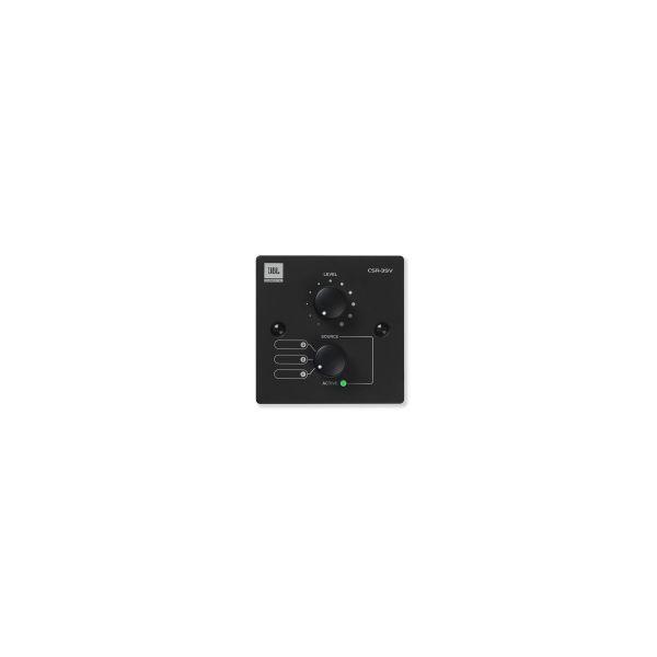 JBL CSR-3SV Black Volume and 3 Source Select Control Wall Plate Single Gang