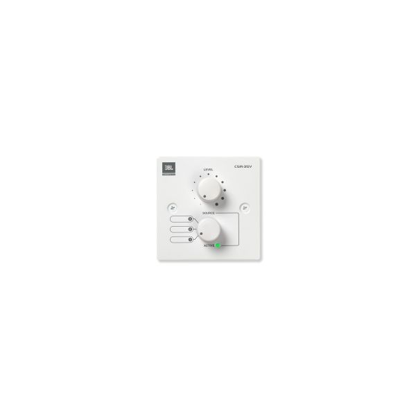 JBL CSR-3SV White Volume and 3 Source Select Control Wall Plate Single Gang