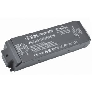 Mode Lighting Mega-200 Mains Dimmable Constant Voltage LED Driver LD-24-200-XT-230-RD - 24V DC 15-200W