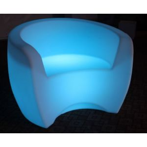 LED Curved Sofa Chair RGB Battery Chargeable Colour Remote Controlled Furniture
