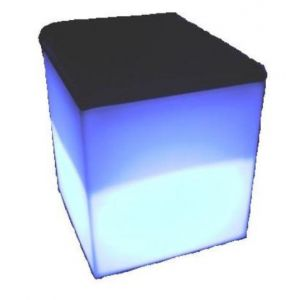 LED Cube Chair with Pad RGB Battery Chargeable Colour Remote Controlled Furniture