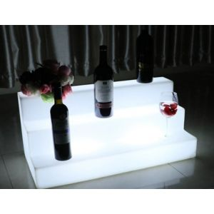 LED Bottle Shelf RGB Battery Chargeable Colour Remote Controlled Furniture