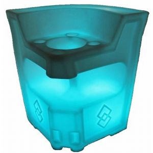 LED Bar Corner with Ice Chest RGB Battery Chargeable Colour Remote Controlled Furniture