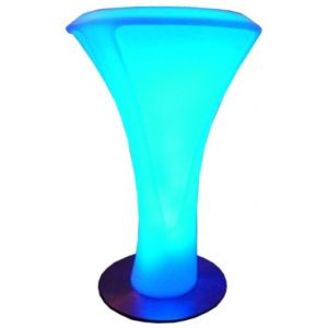 LED Poseur Table RGB Battery Chargeable Colour Remote Controlled Furniture