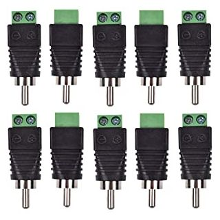 RCA Screw Terminal Connectors Pack of 10